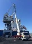 Reparación en grúa de puerto